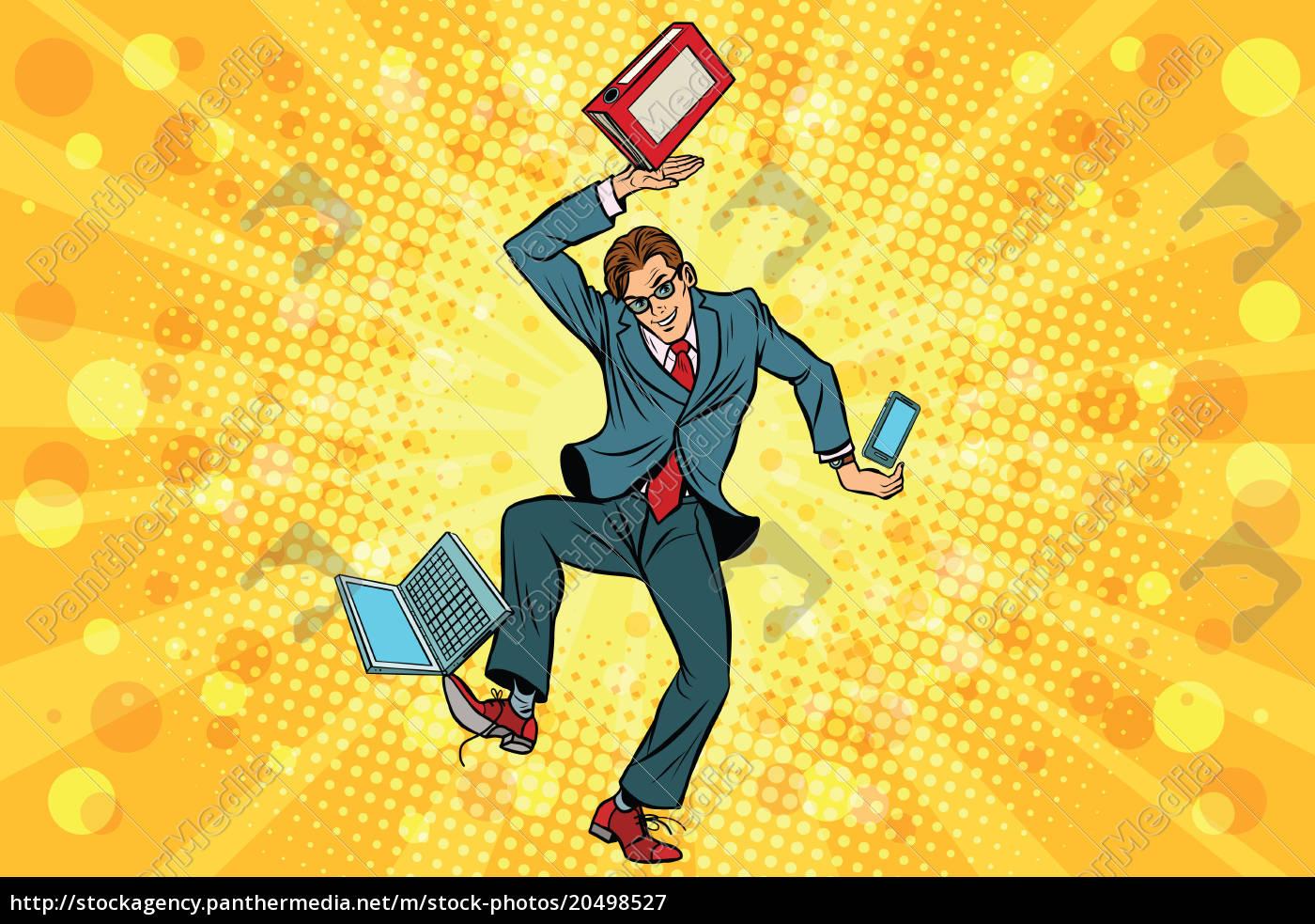 businessman, juggler, clerk - 20498527