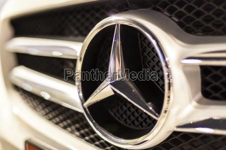 mercedes benz logo on a car