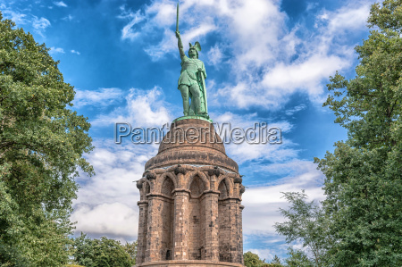 hermanns monument in the teutoburg forest