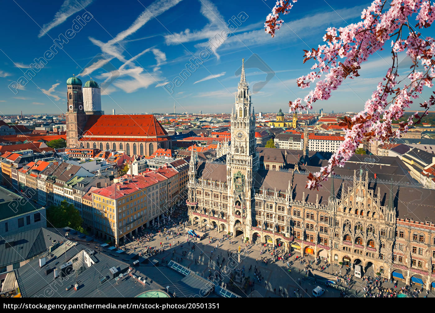 aerial, view, of, munchen, at, spring - 20501351