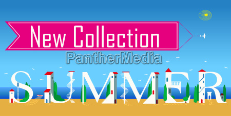 new collection summer artistic font