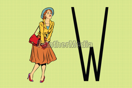 retro woman wants to pee in