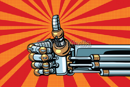 robot thumb up gesture like