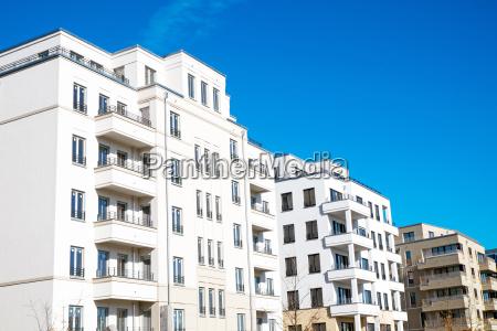 modern, white, residential, buildings, in, berlin - 20504699