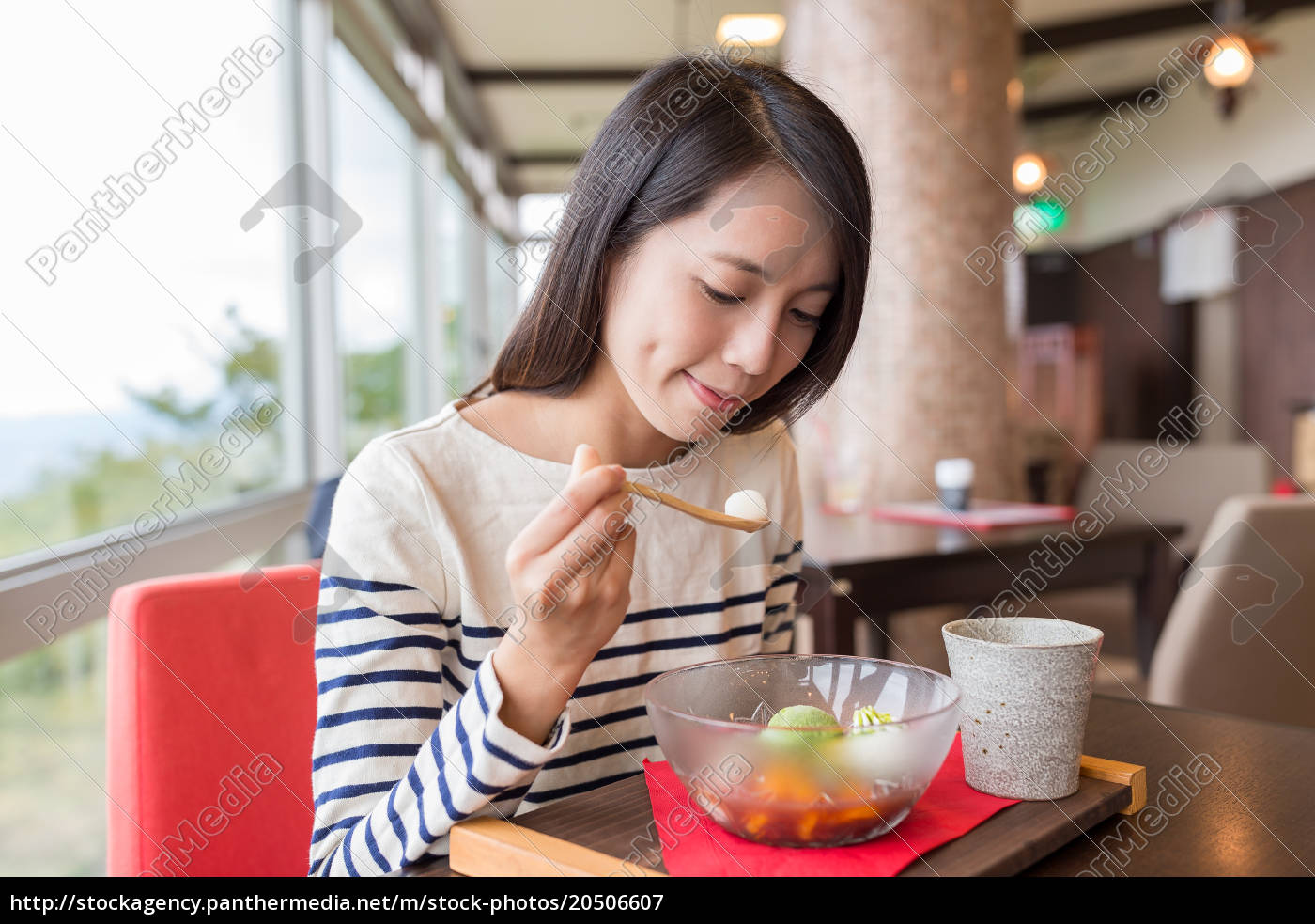 woman, enjoy, dessert - 20506607