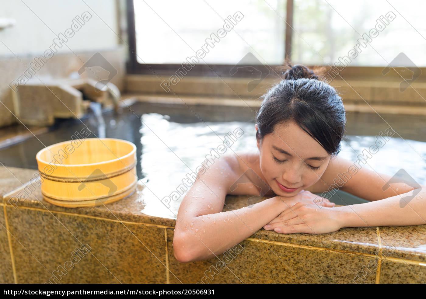 woman, enjoy, hot, springs - 20506931