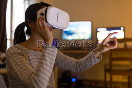 woman, looking, though, with, virtual, reality - 20506871