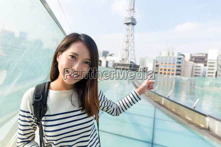 young, woman, in, nagoya, city - 20506783