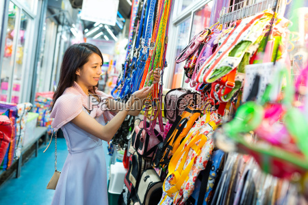 woman shopping at street market