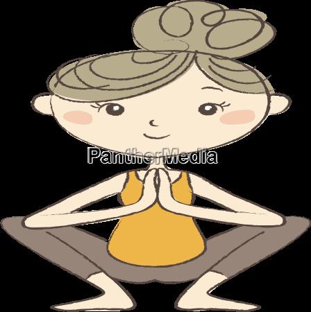 prenatal yoga pregnant woman in squat