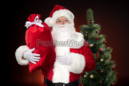 santa claus with red sack