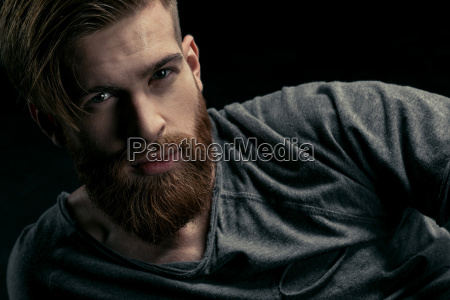 portrait of stylish confident man on
