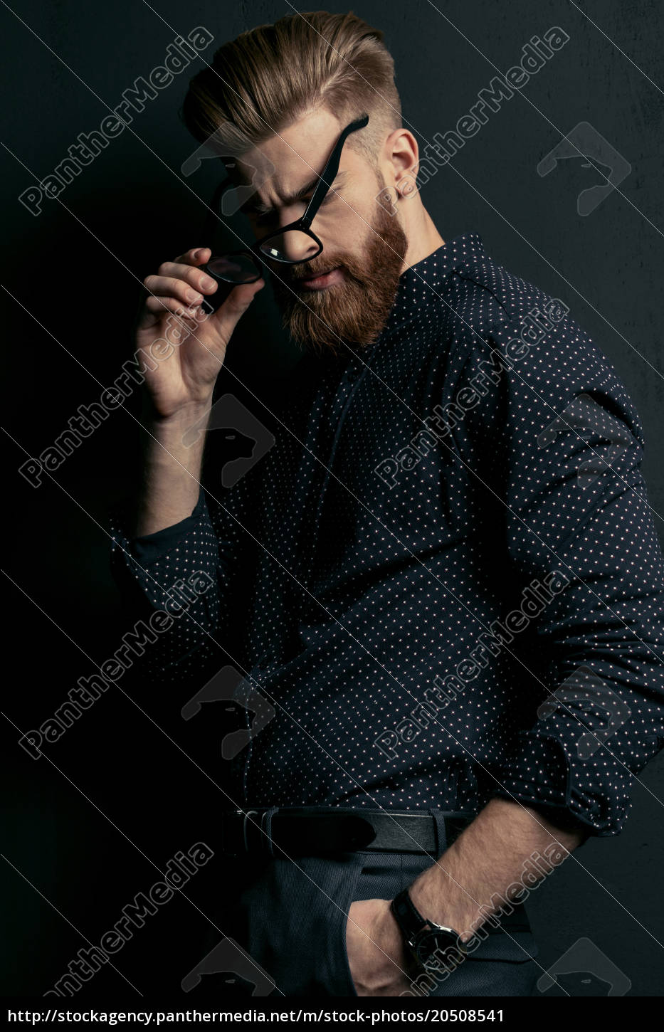 handsome, bearded, young, man, hipster, with - 20508541
