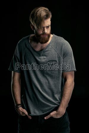 portrait, of, stylish, man, in, shirt - 20508617