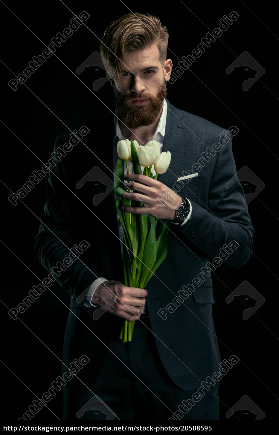 portrait, of, stylish, man, in, suit - 20508595