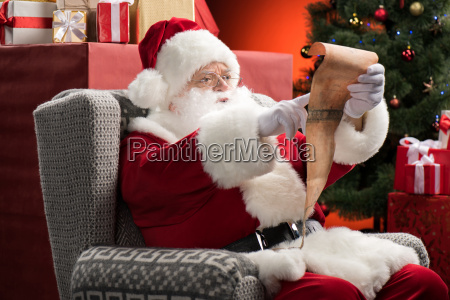 santa, claus, reading, wishlist - 20508353