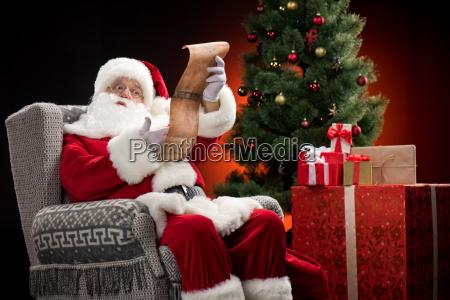 santa, claus, reading, wishlist - 20508365