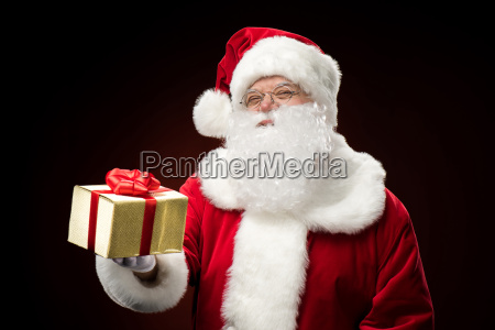 santa, claus, with, gift, box, in - 20508253