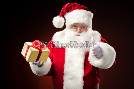 santa, claus, with, gift, box, in - 20508265