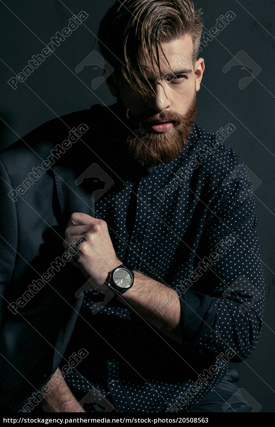 stylish, handsome, bearded, man, hipster, with - 20508563