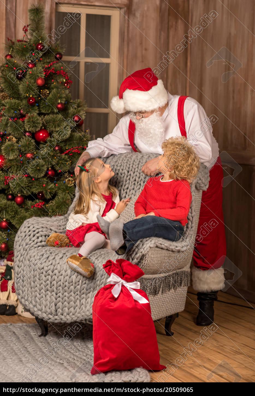 happy, children, looking, at, santa, claus - 20509065