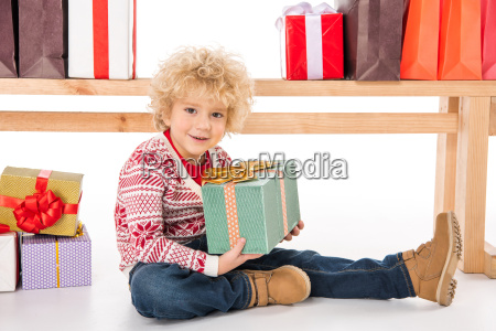 kid, with, gift, boxes, and, shopping - 20511909