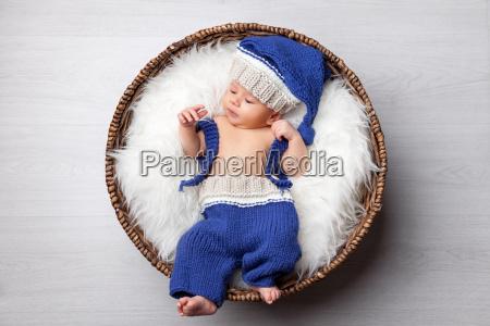 beautiful, newborn, inside, a, basket - 20512659