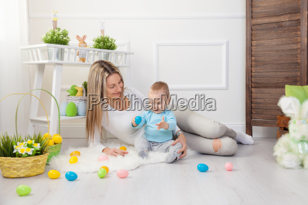 delighted, mother, and, her, child, enjoying - 20512637