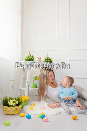 delighted, mother, and, her, child, enjoying - 20512641