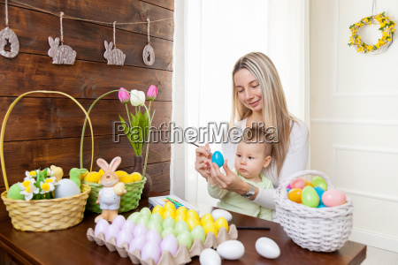 easter, concept., happy, mother, and, her - 20512513