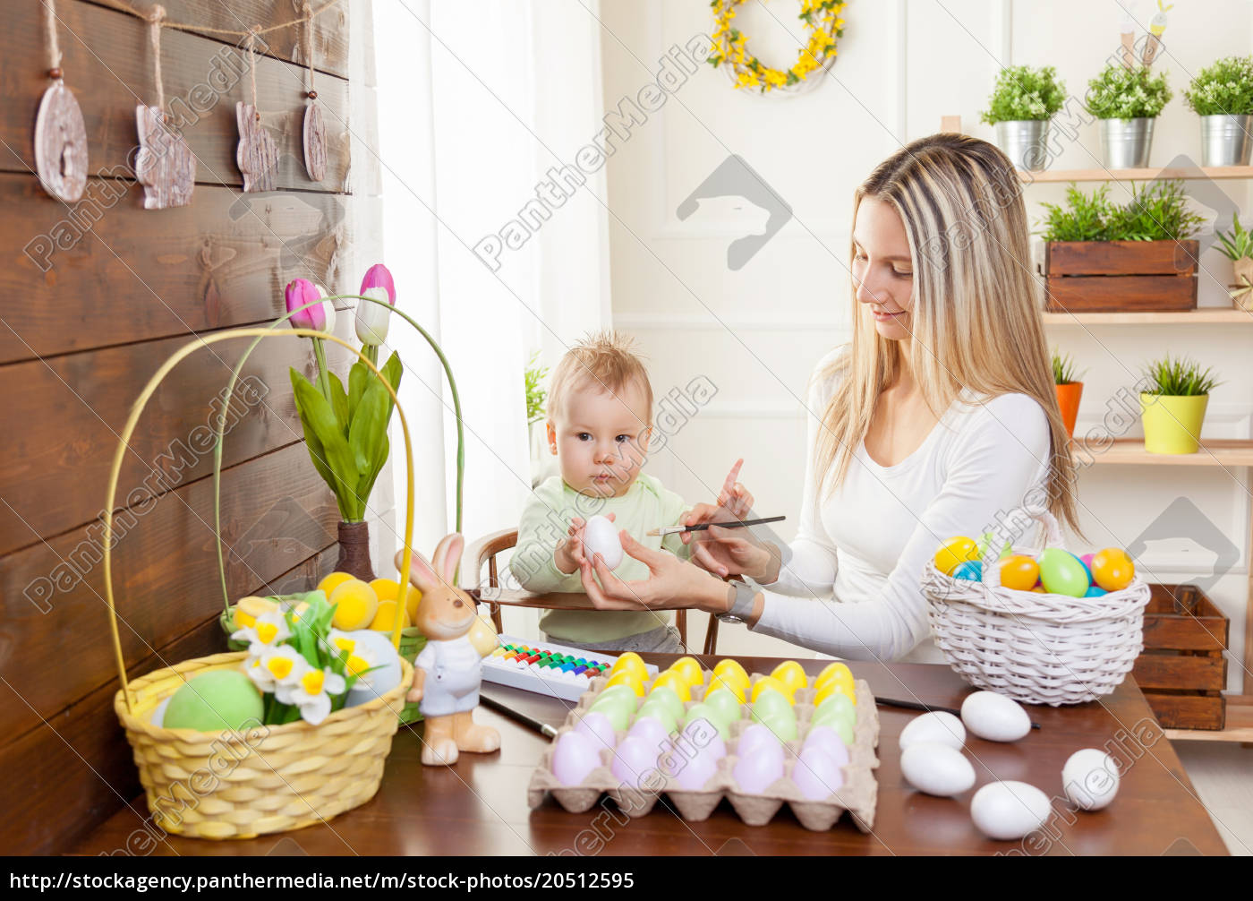 easter, concept., happy, mother, and, her - 20512595