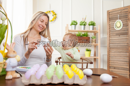 easter, concept., happy, mother, and, her - 20512609