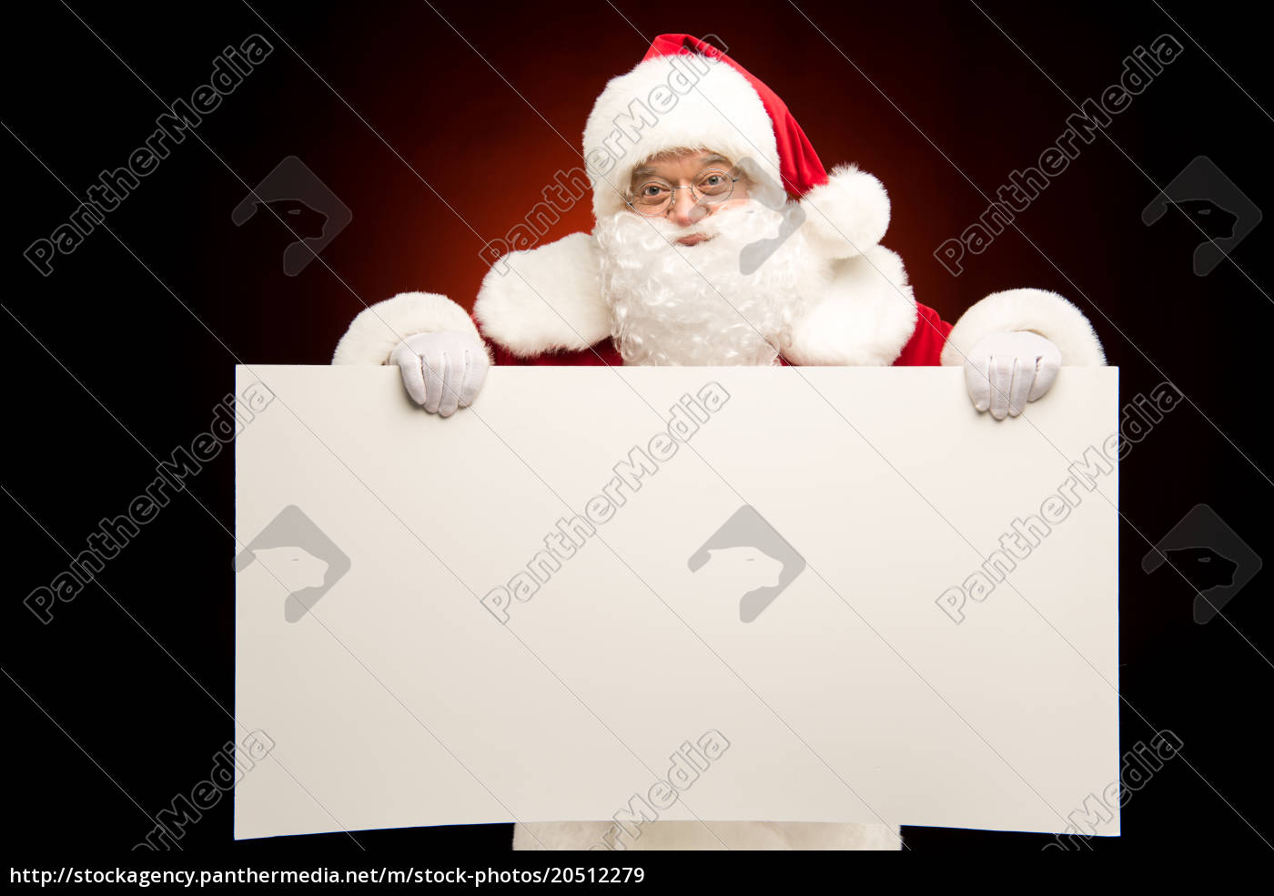 santa, claus, showing, christmas, template - 20512279