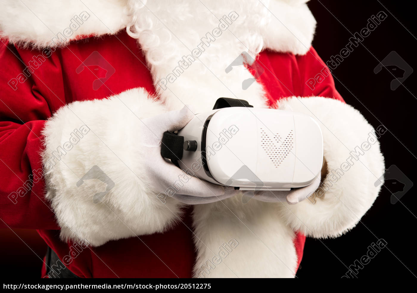 santa, claus, with, virtual, reality, headset - 20512275