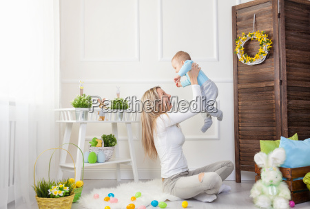 delighted, mother, and, her, child, enjoying - 20513619