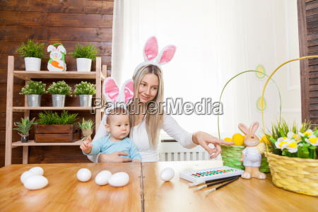 happy, mother, and, her, cute, child - 20513567