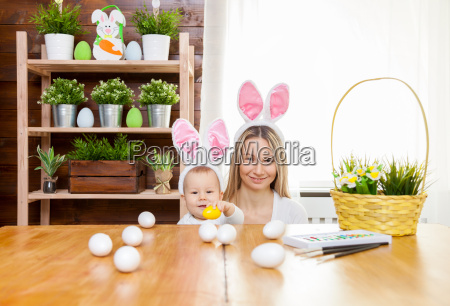 happy, mother, and, her, cute, child - 20513571