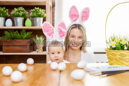 happy, mother, and, her, cute, child - 20513573