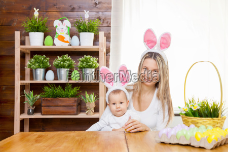 happy, mother, and, her, cute, child - 20513579