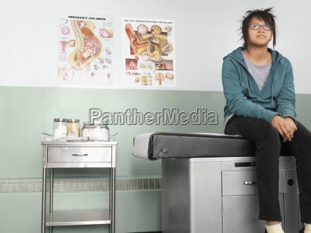patient waiting in doctors office