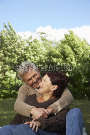 portrait of couple outdoors