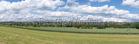 panorama of a rural place in