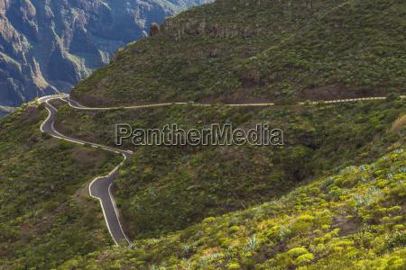 mountain pass road teno mountains masca