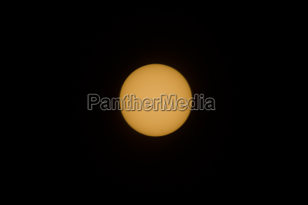 real sun seen with telescope and