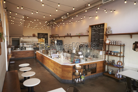 empty cafe or bar interior daytime
