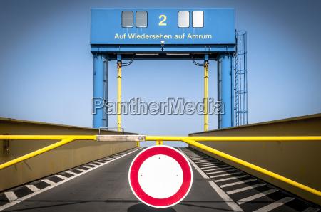 germany amrum empty ferry dock