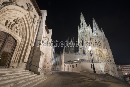 spain burgos burgos cathedral at night