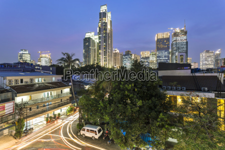 indonesia jakarta skyline of financial district