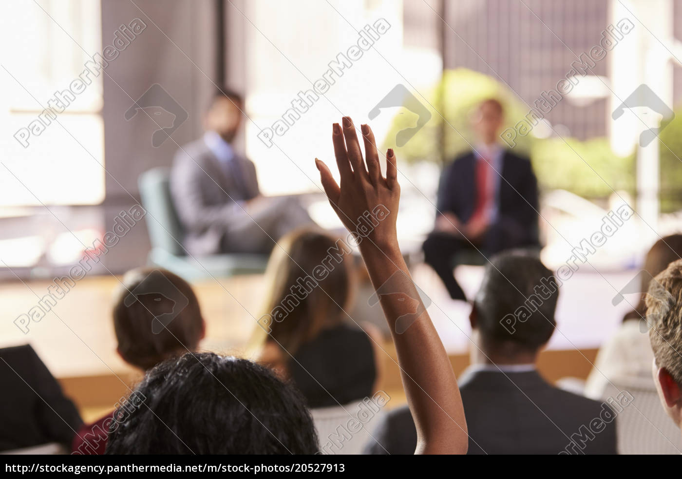 hand, in, audience, raised, for, a - 20527913