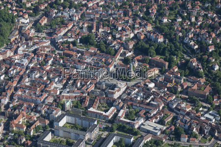 germany eisenach aerial view of the
